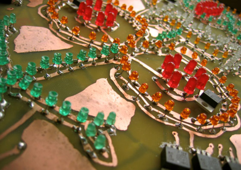 Standard pcb hand painted circuit board
