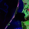 Thumb curonian spit and lagoon satellite photo by landsat nasa 2000