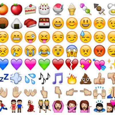 Box 136 different whatsapp emojis