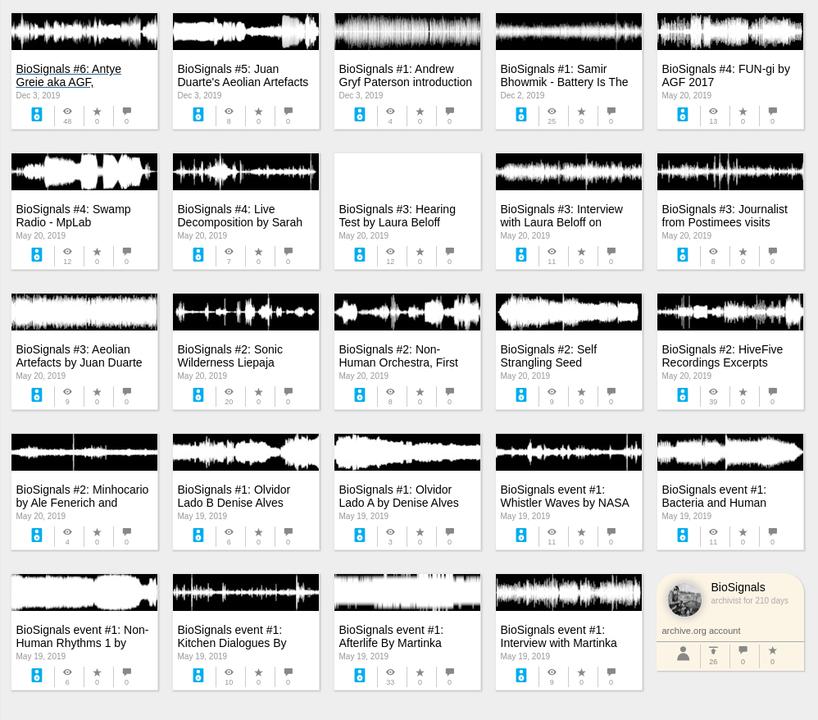 Standard biosignals archive dot org